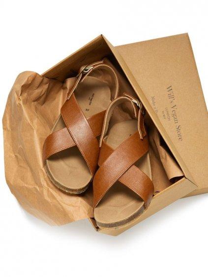 """Dámské hnědé sandály """"Huarache Footbed Sandals tan"""""""