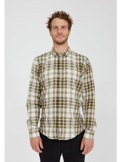 """Pánská károvaná košile """"LINAAS sage"""""""