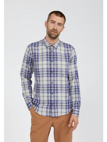 """Pánská károvaná košile """"LINAAS pacific ink"""""""