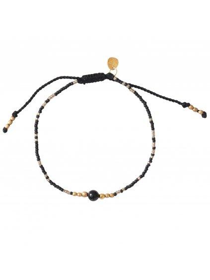 BL26036 Iris Bracelet Black Onyx Gold