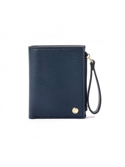 wallet vegan elegante blu recycled cruelty free italian