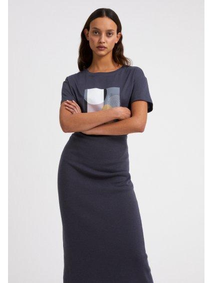 """Dámské modré tričko """"NELAA GRAPHIC PATCHWORK indigo"""""""