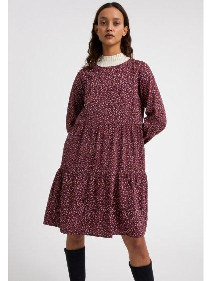 "Dámské šaty se vzorem ""MIRELAA MINIFLORAL ruby red"""
