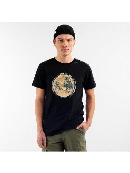 """Pánské tričko s potiskem """"Stockholm Earth Greed Black"""""""