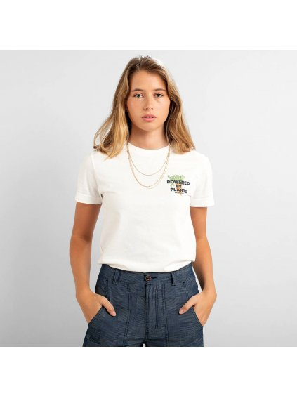 """Dámské tričko s potiskem """"Mysen Plant Power White"""""""
