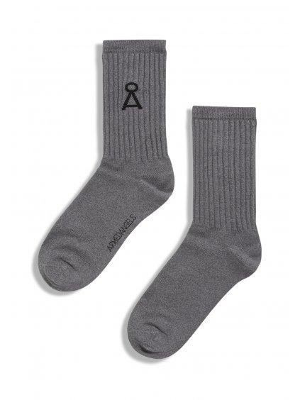 """Šedé ponožky """"SAAMU grey melange"""""""