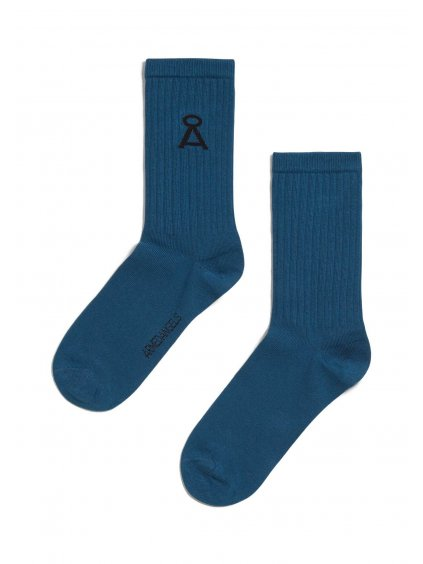 "Modré ponožky ""SAAMU dark indigo"""