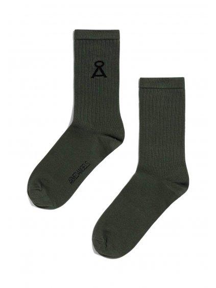 """Tmavě zelené ponožky """"SAAMU forest green"""""""