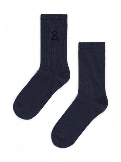 """Tmavě modré ponožky """"SAAMU depth navy"""""""