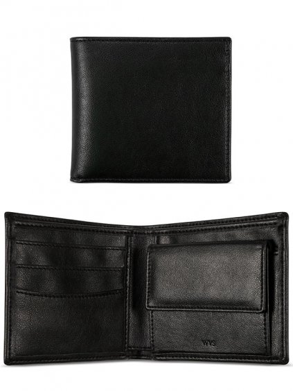 billfold coin wallet black 1