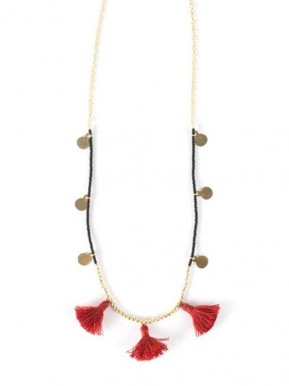 necklace travelingtassel rose