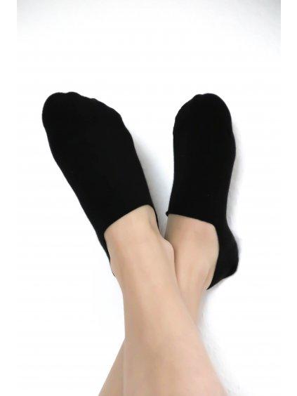 Nízké ponožky unisex - černé