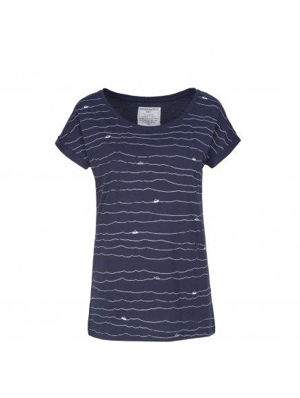 """Dámské tmavě modré tričko """"Liv Paper Boats"""""""