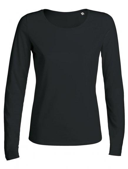 """Dámské tričko s dlouhým rukávem """"Stella Jokes"""" černé"""