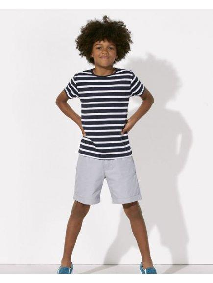 Mini Stripes tmavo modre