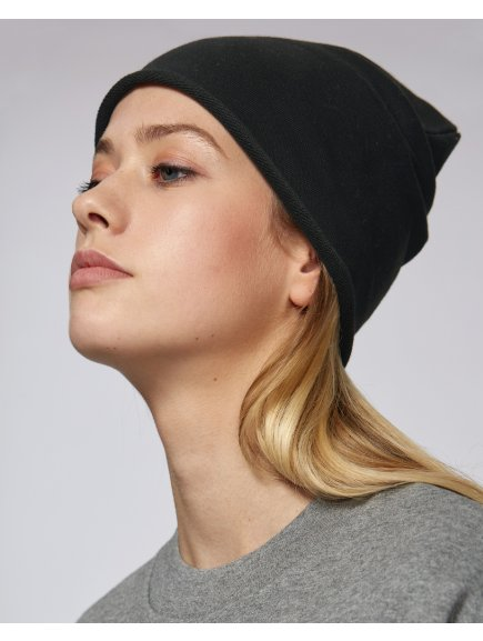 Terry beanie Black Studio Front Main 5