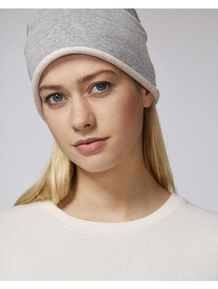 Terry beanie Heather Grey Studio Front Main 5