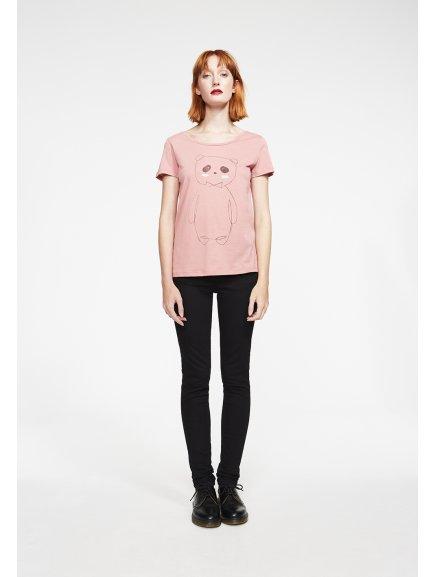 """Dámské růžové tričko """"Mari Panda"""""""