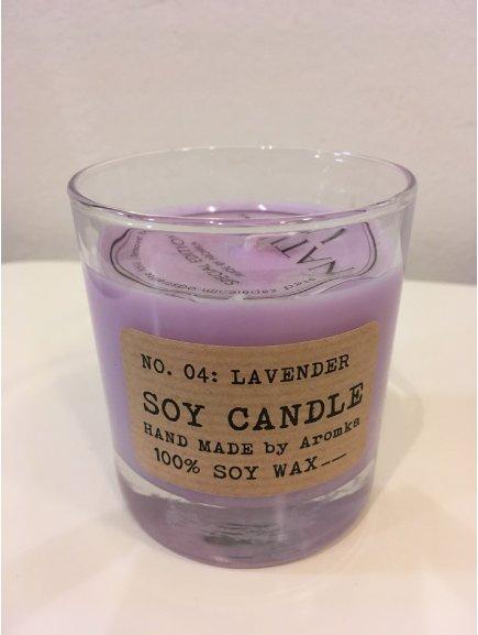 """Svíčka ze sojového vosku """"Levendule"""" (válec Whiskey 200ml)"""