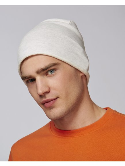 Terry beanie Cream Heather Grey Studio Front Main 0