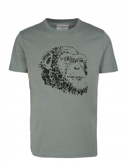 "Pánské zelené tričko ""James Pool Monkey"""