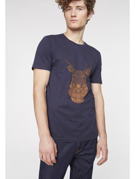 """Pánské modré tričko """"James Geo Deer"""""""