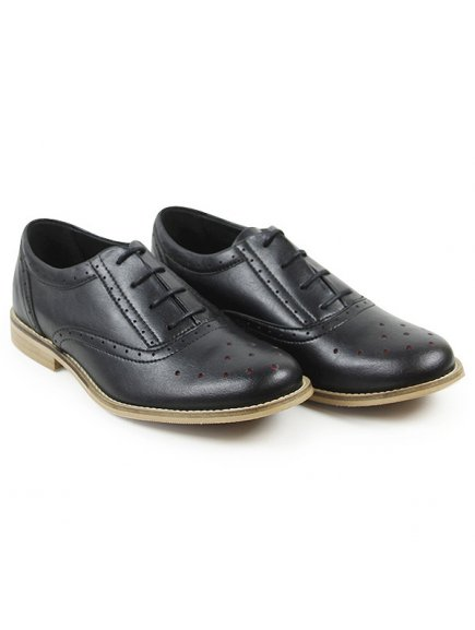Perforated Oxfords černé