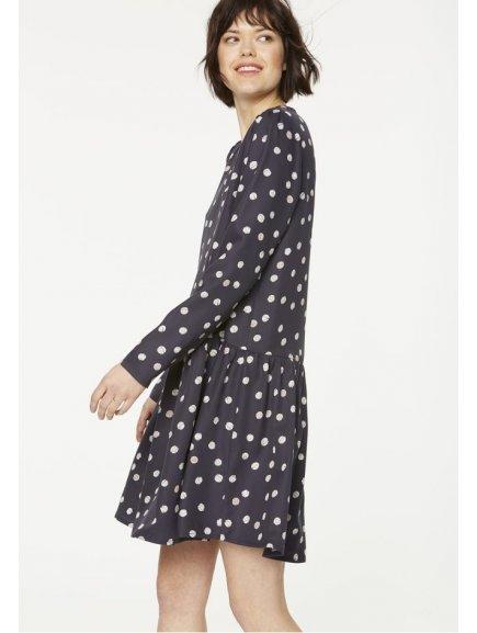 """Dámské modré šaty """"Enda Bubble Dots"""""""