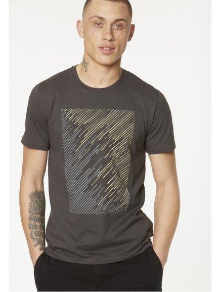 """Pánské šedé tričko """"James Geo Lines"""""""