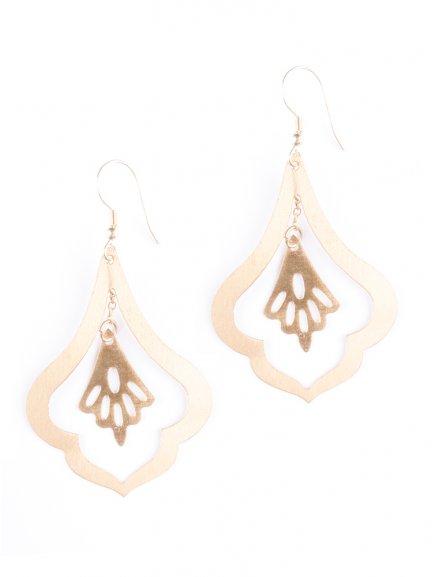 earrings lyrical gold