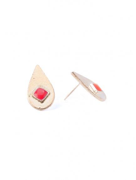 earrings ionainlaystuds red