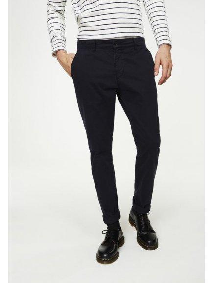 """Pánské tmavě modré chino kalhoty z biobavlny """"Brandon"""""""