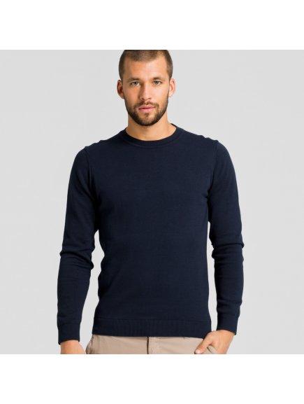 """Pánský tmavě modrý svetr z biobavlny """"Taro"""""""