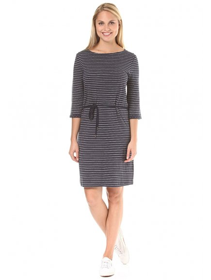 armedangels cora stripes dress women blue stripes