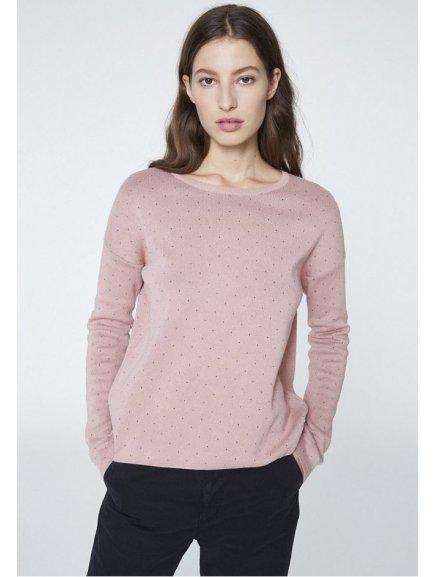 """Dámský růžový svetřík """"Averie Dots"""""""