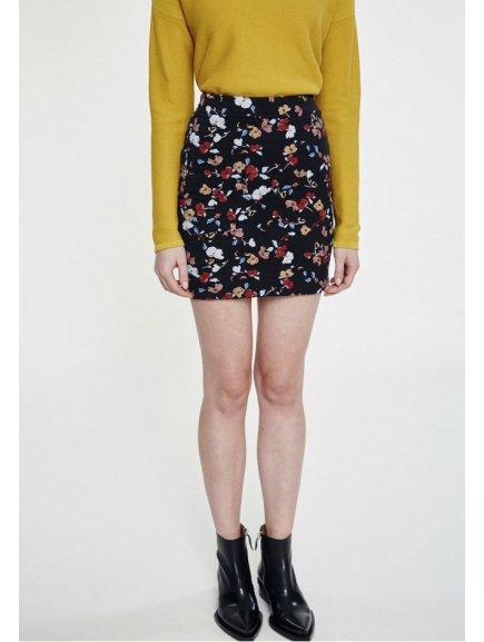 "Dámská sukně z biobavlny s potiskem ""Celia Full Fall Flowers"""