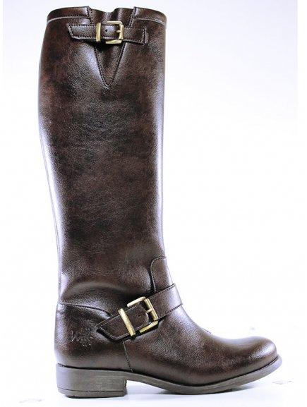 Knee length dark brown 5