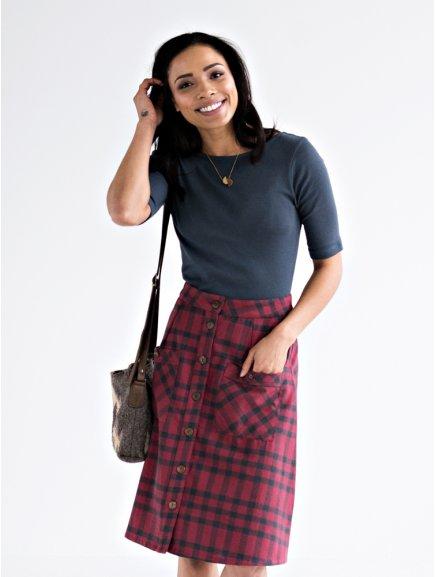 skirt high line fuchsia m