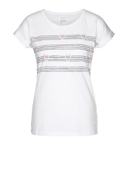 """Dámské bílé tričko """"Liv Hearts On Stripes"""""""