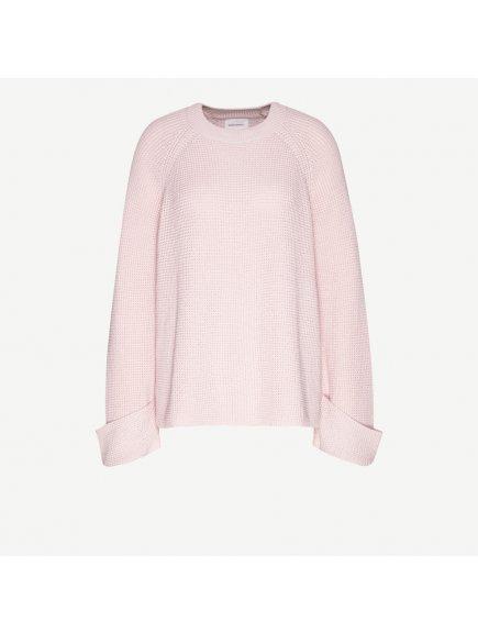 """Dámský růžový svetr z biobavlny """"DALIAA"""""""