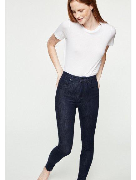 """Dámské modré džíny s vyšším pasem """"Inga Rinse"""""""