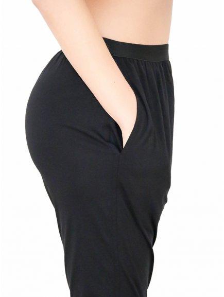"""Unisex kalhoty """"Lounge Pants"""" - černé"""