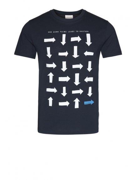 """Pánské modré tričko """"JAAMES LOGIC"""""""