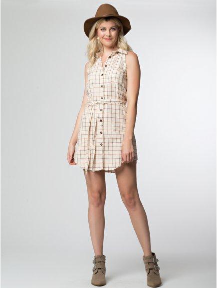 dress layla creamplaid mkt2