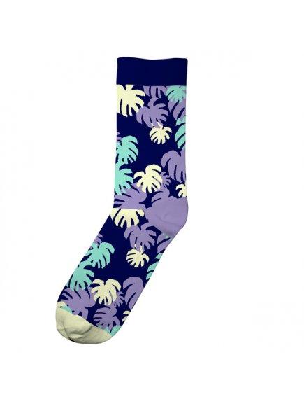4459 56331b9a3f monstera pattern socks