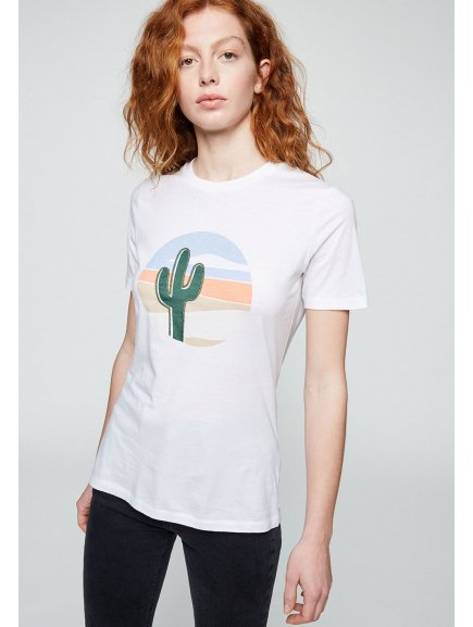 "Dámské tričko z biobavlny ""LIDAA CACTUS"""
