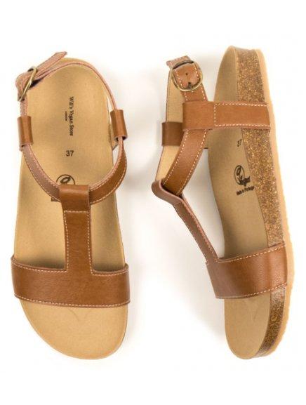 "Dámské hnědé sandálky ""Footbed Sandals Tan"" - nový model"