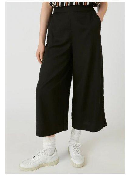 """Dámské černé culotte kalhoty z eukalyptu """"KAYLA black"""""""