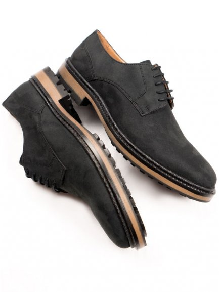 continental brogues black faux suede 2