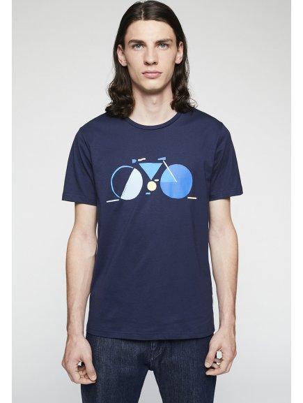 """Pánské tričko z biobavlny """"JAAMES field bike"""""""